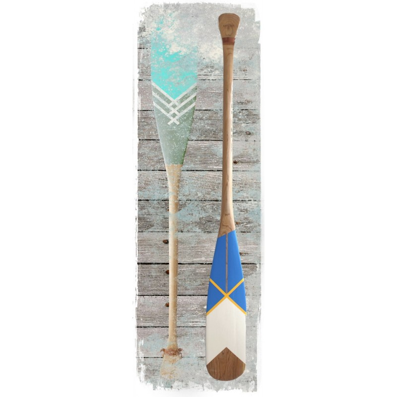 Oars/Paddles Distressed Nautical Wall Plaque