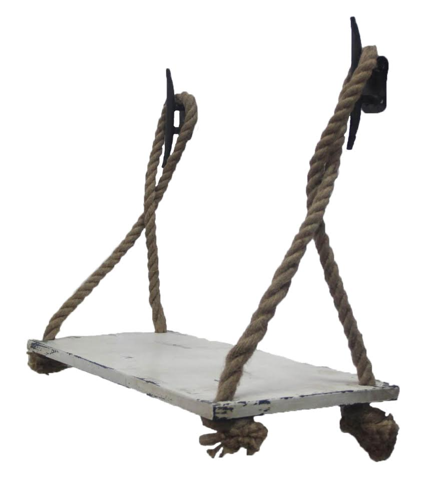 Metal Shelf w/ Rope & Cleats