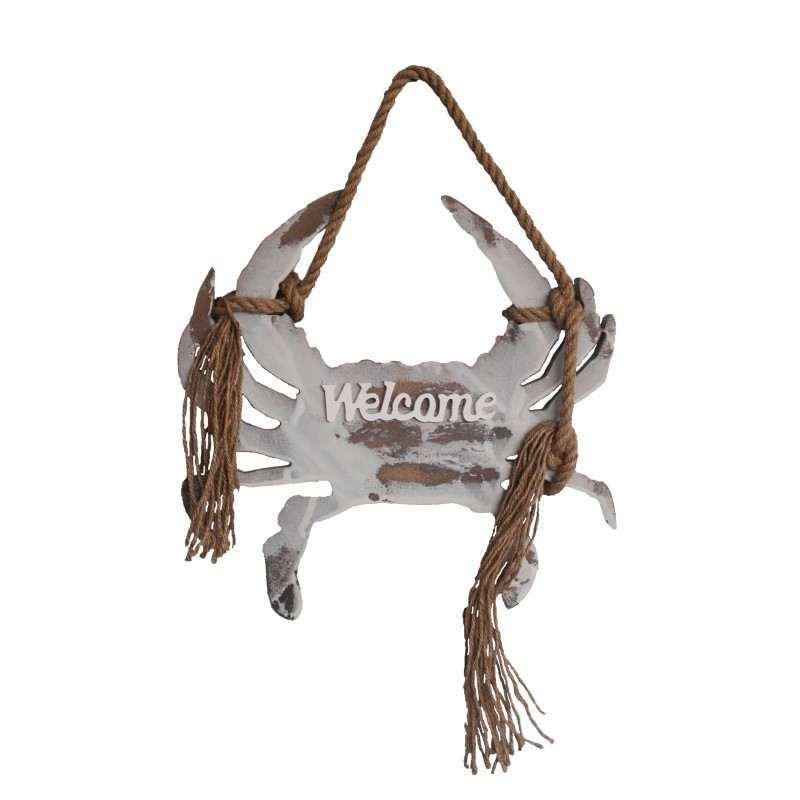 Wooden Welcome Crab Sign/Wall Plaque