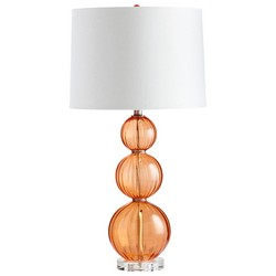 Persimmon Glass Table Lamp
