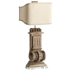 Limed Gracewood Table Lamp