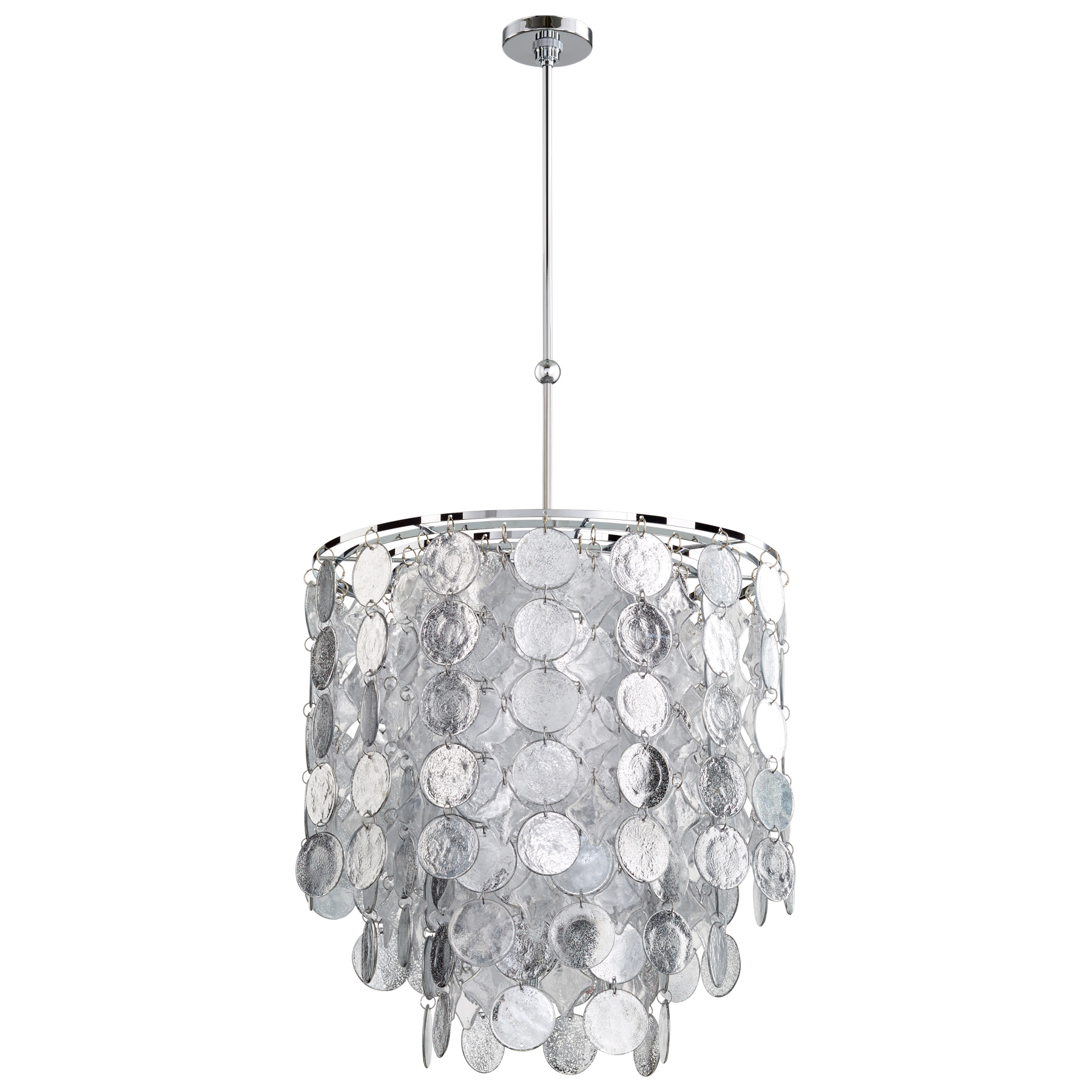 Silver Clear Glass Pendant Light