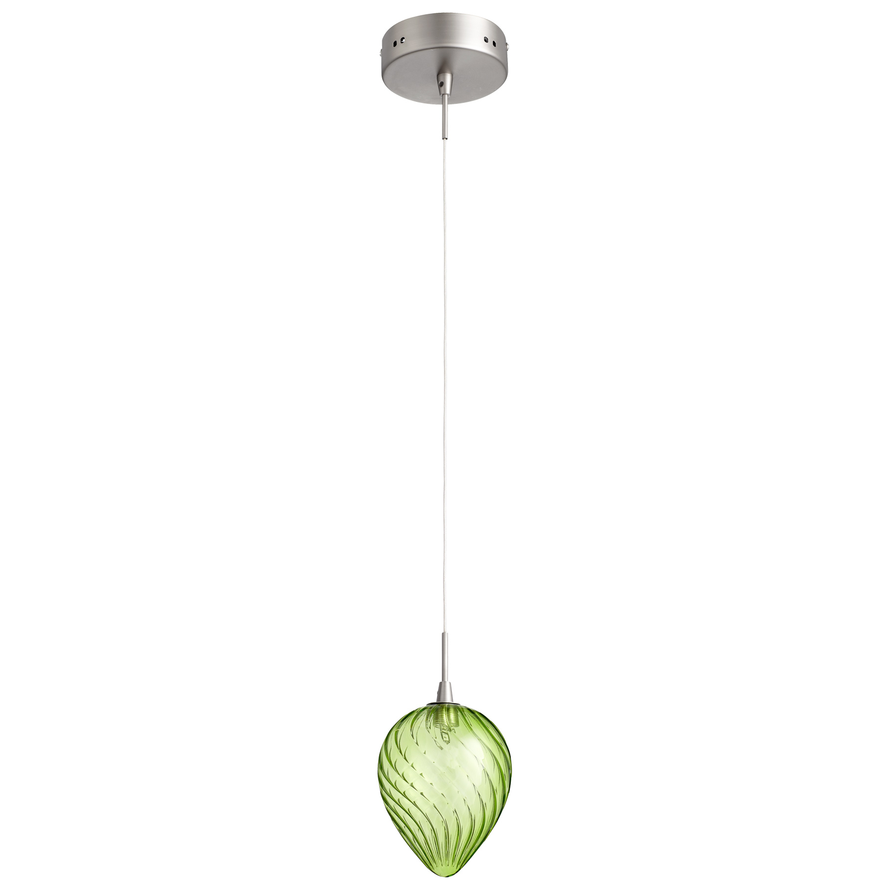 Pendant Lighting Green : Lime green glass pendant light