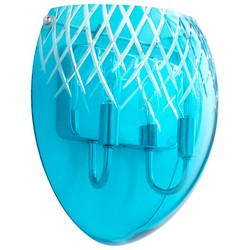 Aqua Glass Wall Sconce