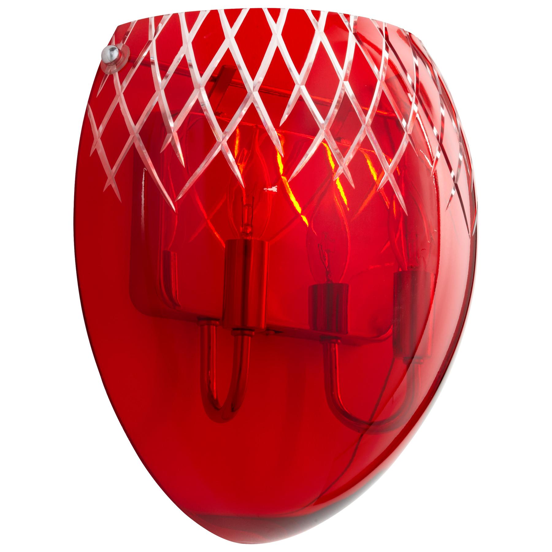 Red Glass Wall Sconces : Red Glass Wall Sconce