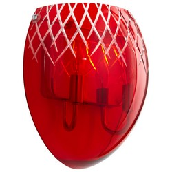 Red Glass Wall Sconce