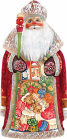 Artistic Wood Carved Christmas Eve Santa Claus Sculpture