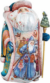 Land of Sweets Santa Claus Artistic Wood Carved Sculpture