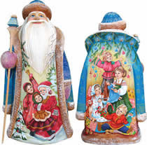 Artistic Wood Carved Christmas Ready Santa Claus Sculpture