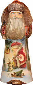 Artistic Wood Carved Santa Claus Christmas Fun Sculpture