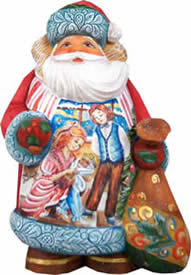 Artistic Wood Carved Santa Claus Nutcracker Sculpture