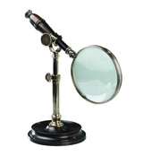 Bronzed Magnifying Glass w/ Stand