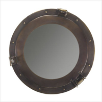 Medium Bronze Cabin Porthole Mirror
