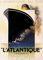 L'Atlantique - Cassandre Print on Canvas