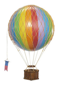 Rainbow Floating the Skies Hot Air Balloon