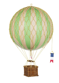 True Green Floating the Skies Hot Air Balloon