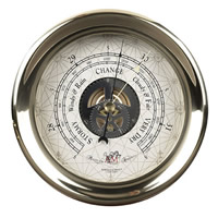 Large Brass Captain's Barometer