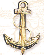 Brass Fowled Anchor Wall Plaque