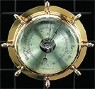 Brass Ship's Wheel Precision Barometer