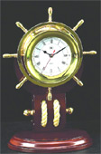 Ship Wheel Pulley Quartz Clock