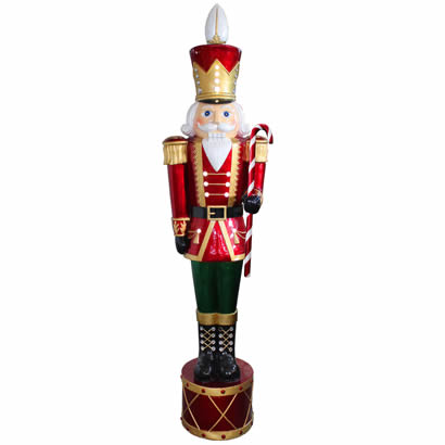 65 In. Jeweled Nutcracker with White LED - Indoor Outdoor