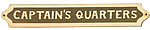 Brass & Wood Captain's Quarters Plaque