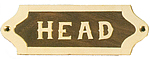 Brass & Wood Head Plaque