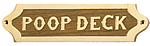 Brass & Wood Poop Deck Plaque