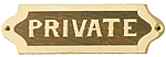 Brass & Wood Private Plaque