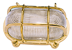 Oval Brass Bulkhead Lamp