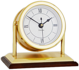 Chelsea Chatham Clock in Brass