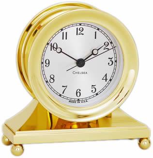 Chelsea Constitution Clock In Brass