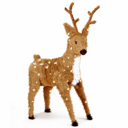 36 In. Christmas Reindeer Decoration with Spots and 150 Clear Lights