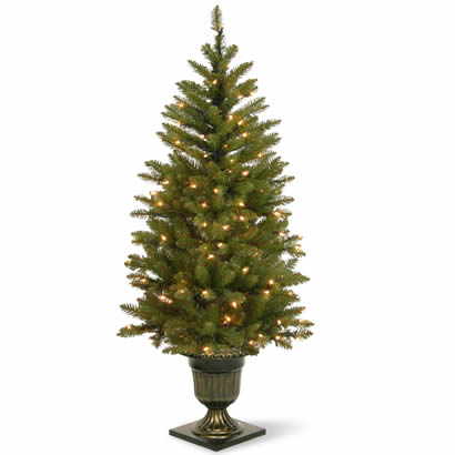 4 1/2 Ft. Dunhill Fir Entrance Christmas Tree w/ 100 Warm White LEDs