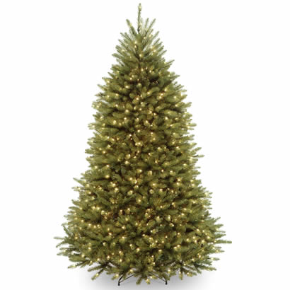 7 Ft. Dunhill Fir Hinged Christmas Tree with 700 Clear Lights