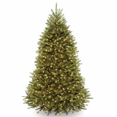 7 1/2 Ft. Dunhill Fir Hinged Christmas Tree with 750 Clear Lights