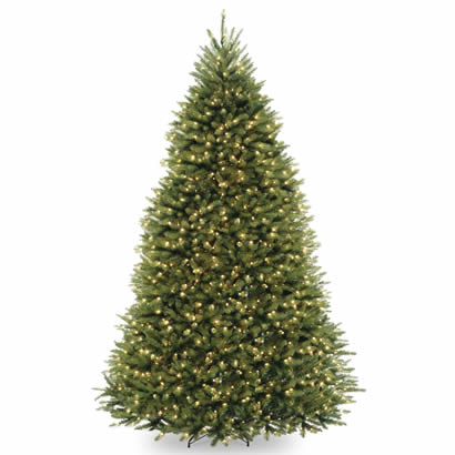 9 Ft. Dunhill Fir Hinged Christmas Tree with 900 Clear Lights