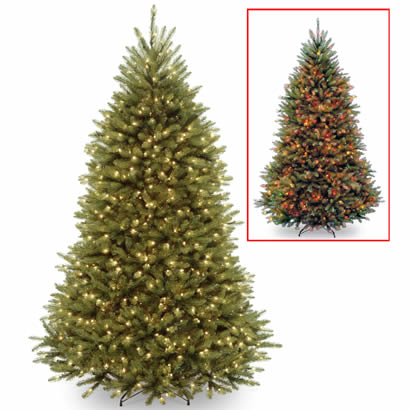 7 1/2 Ft. Dunhill Fir Christmas Tree with 650 Dual LEDs & Footswitch