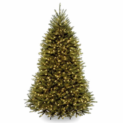 7 1/2 Ft. Dunhill Fir Hinged Christmas Tree with 600 Clear Lights