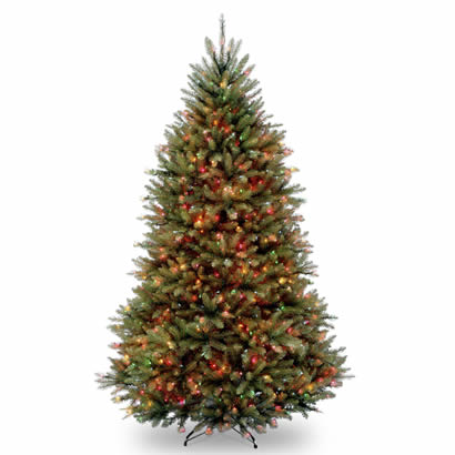 7 1/2 Ft. Dunhill Fir Hinged Christmas Tree with 600 Multi Lights