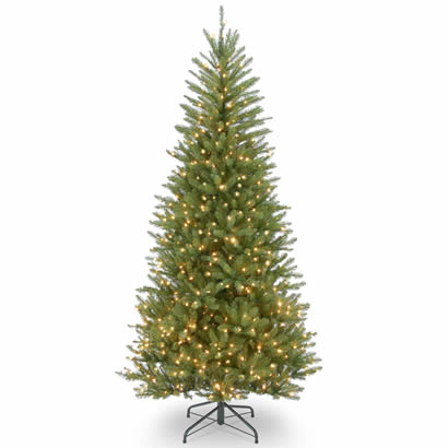 7 1/2 Ft. Dunhill Slim Fir Hinged Christmas Tree w/ 600 Clear Lights