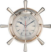 Brass Quartz Ship Wheel Clock
