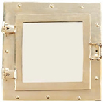 Square Brass Porthole Mirror