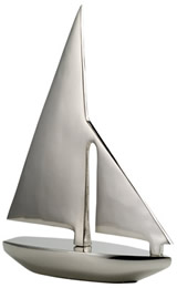Nickel Plated Brass Sailboat