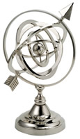 Nickel Plated Brass Armillary Sphere