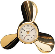 Brass Quartz Propeller Clock