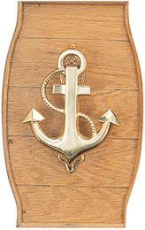 Brass Fowled Anchor Door Knocker