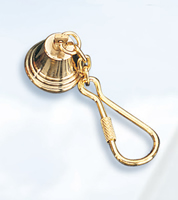 Set of Two Brass Bell Keychains