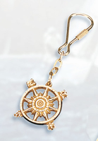 Set of Two Compass Rose Keychains