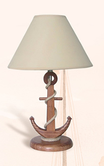 Wooden Anchor Lamp
